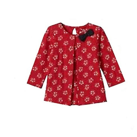 b93534aa jumping beans Shirts & Tops | Baby Girl Bow Glittery Pleated Tunic ...